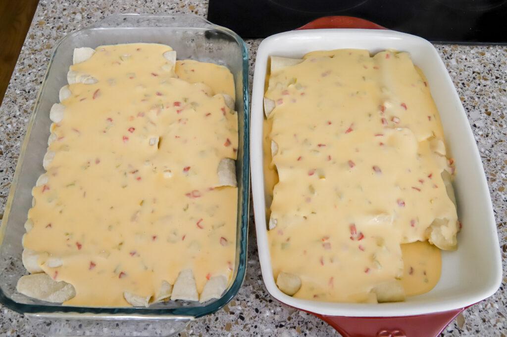 Beef Enchiladas with Cheesy Cream Sauce