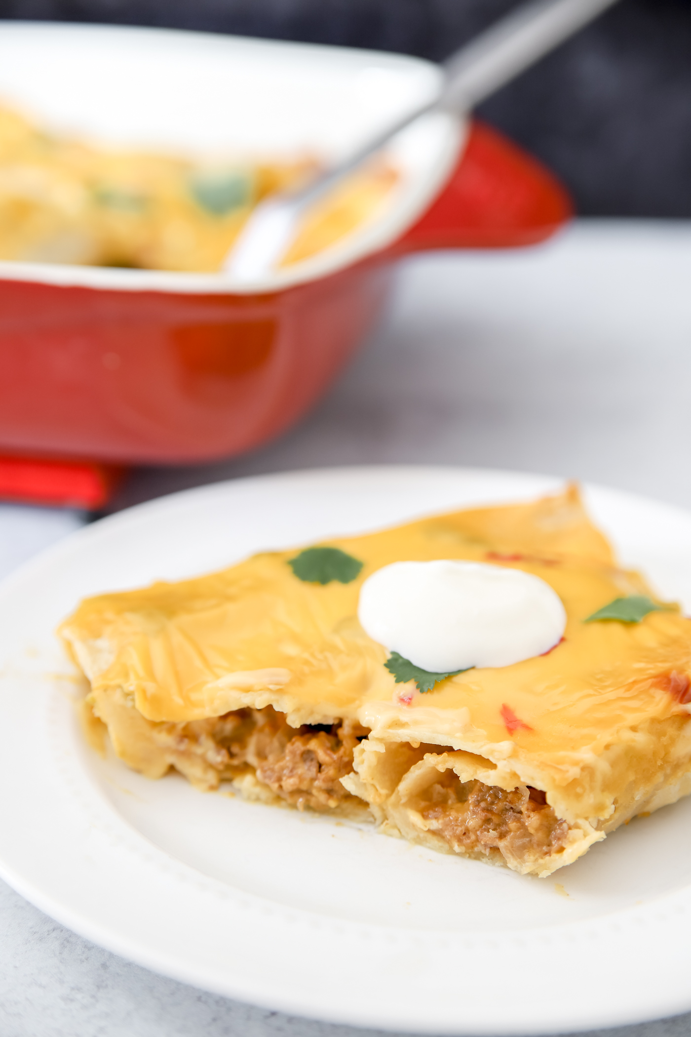 Beef Enchiladas with Cheese Sauce
