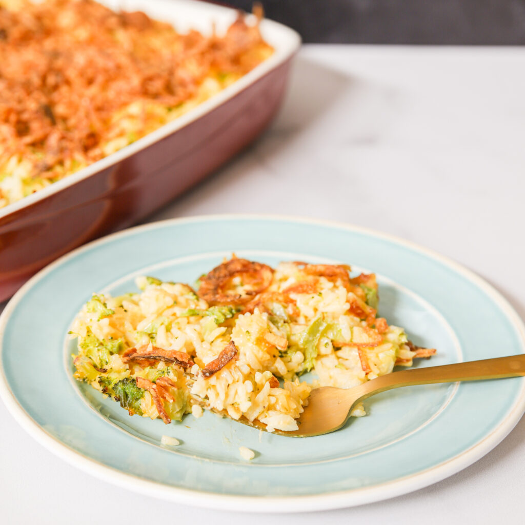 Broccoli Cheese and Rice Casserole