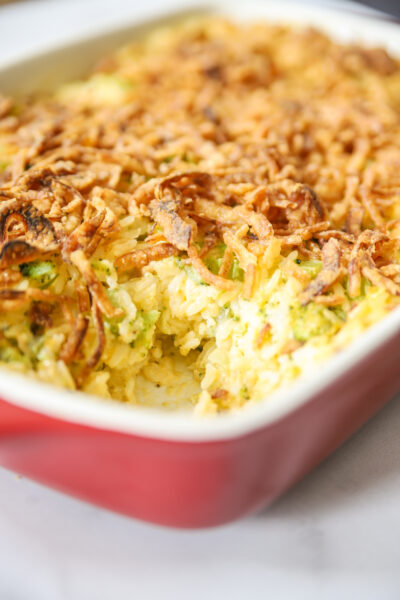 Cheesy Broccoli and Rice Casserole