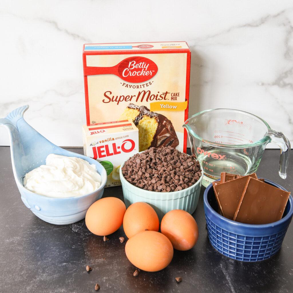 Chocolate Chip Bundt Cake Ingredients
