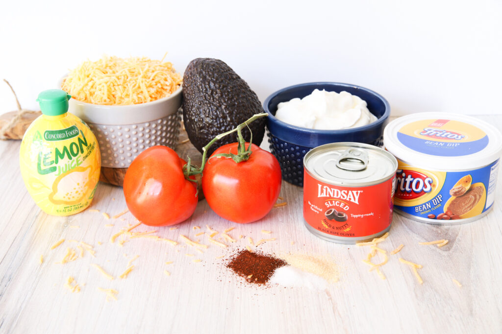 Ingredients for 5-Layer Taco Dip