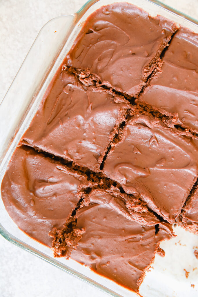 Homemade Fudge Brownies with Frosting