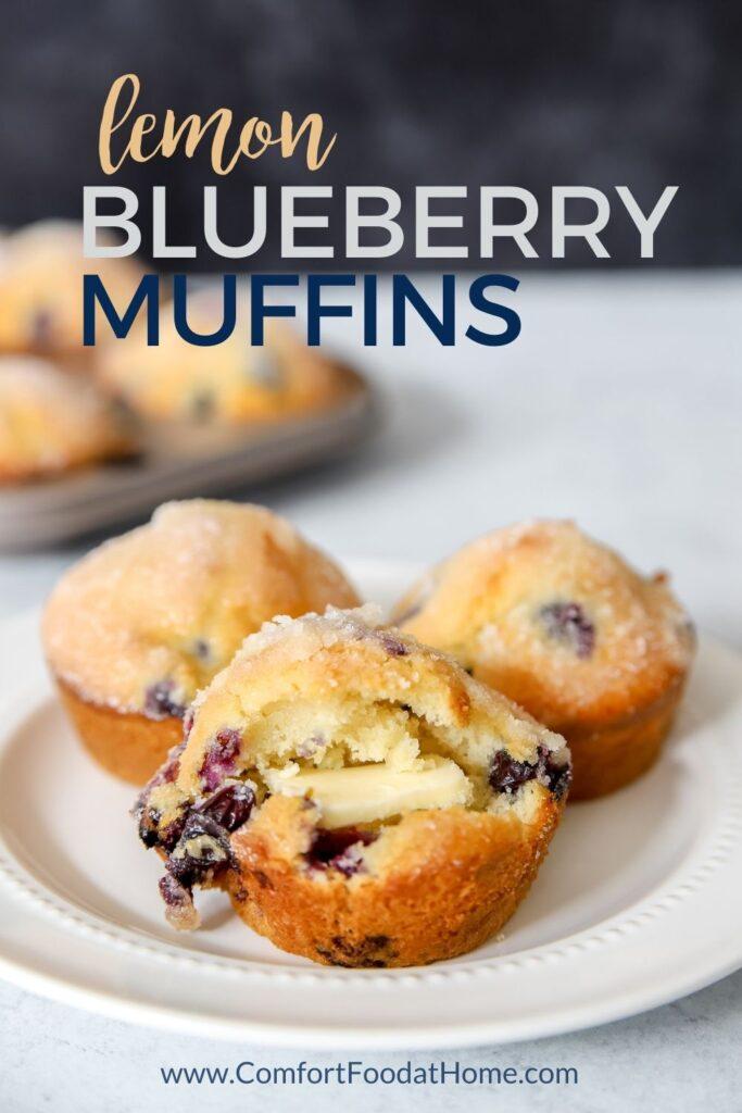 The BESt Lemon Blueberry Muffins