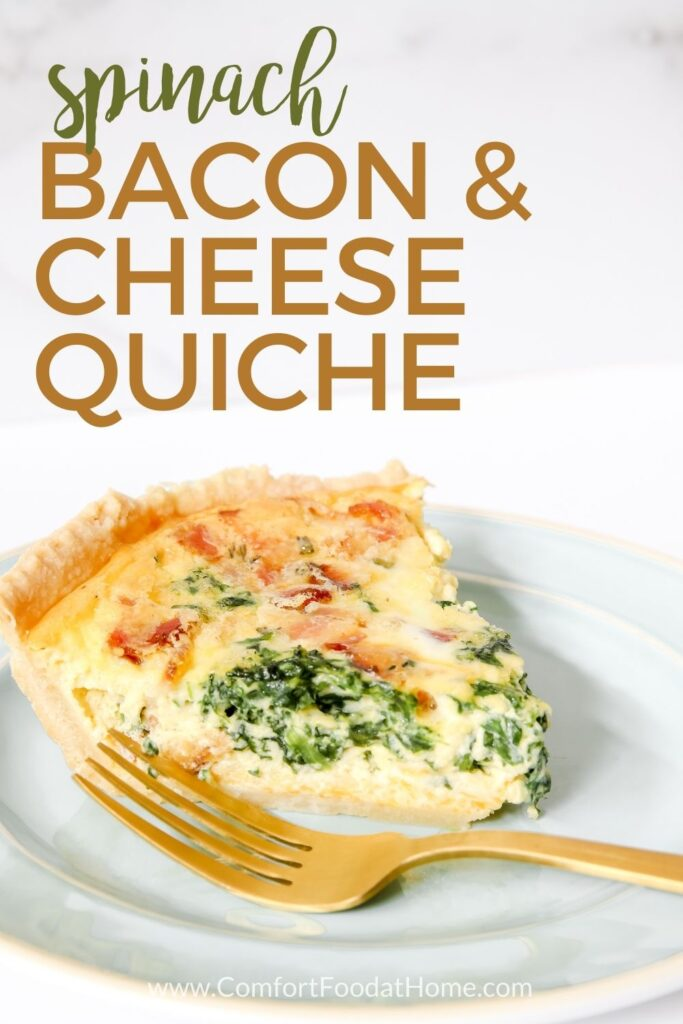 Bacon & Cheese Quiche with Spinach
