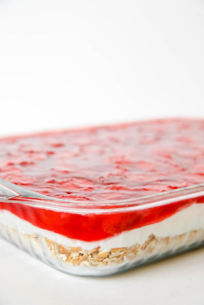 Strawberry Pretzel Salad with Cream Cheese