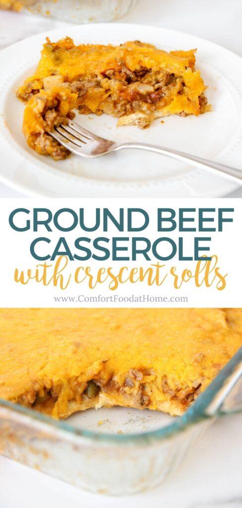 Ground Beef Crescent Roll Casserole