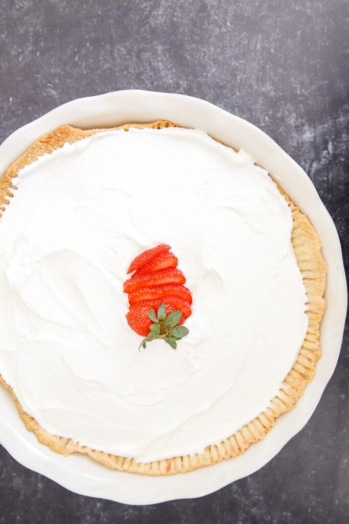 Strawberry Pie with Cream Cheese Layer