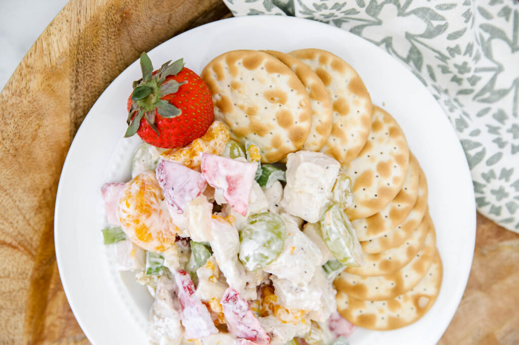 Sweet and Savory Fruit and Chicken Salad