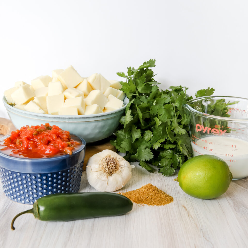 Ingredients for White Queso Dip