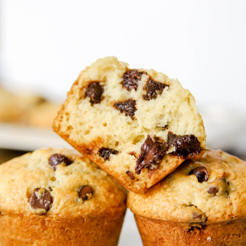 Chocolate Chip Muffins With Sour Cream